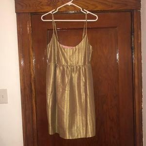 Gold mini Anthropologie dress never worn